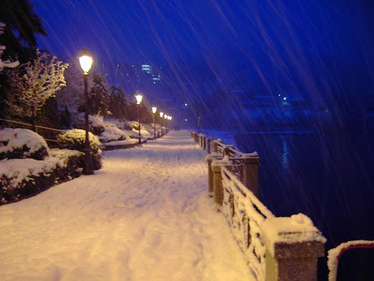 nevica sul lago Maggiore di albertosiberia