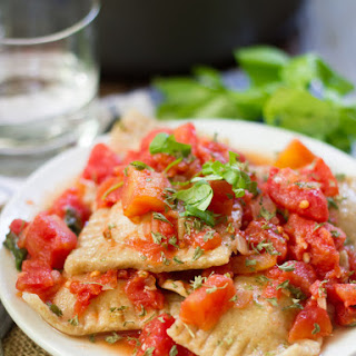 Vegan Ravioli Pomodoro