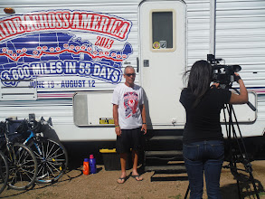 Photo: Sioux Falls SD Kellee of KeloTV interviewing us