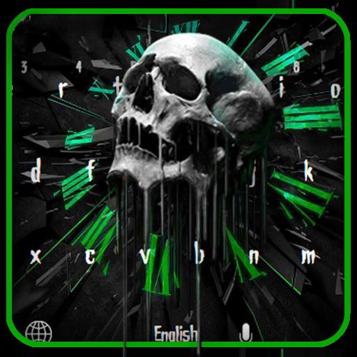 Green roar skull keyboard