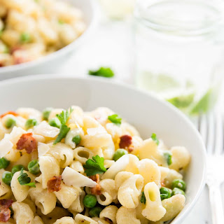 One Pot Pea and Bacon Pasta