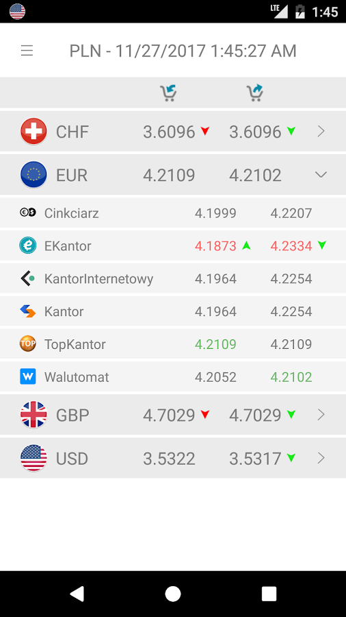 XSpect - Currency Rates- screenshot