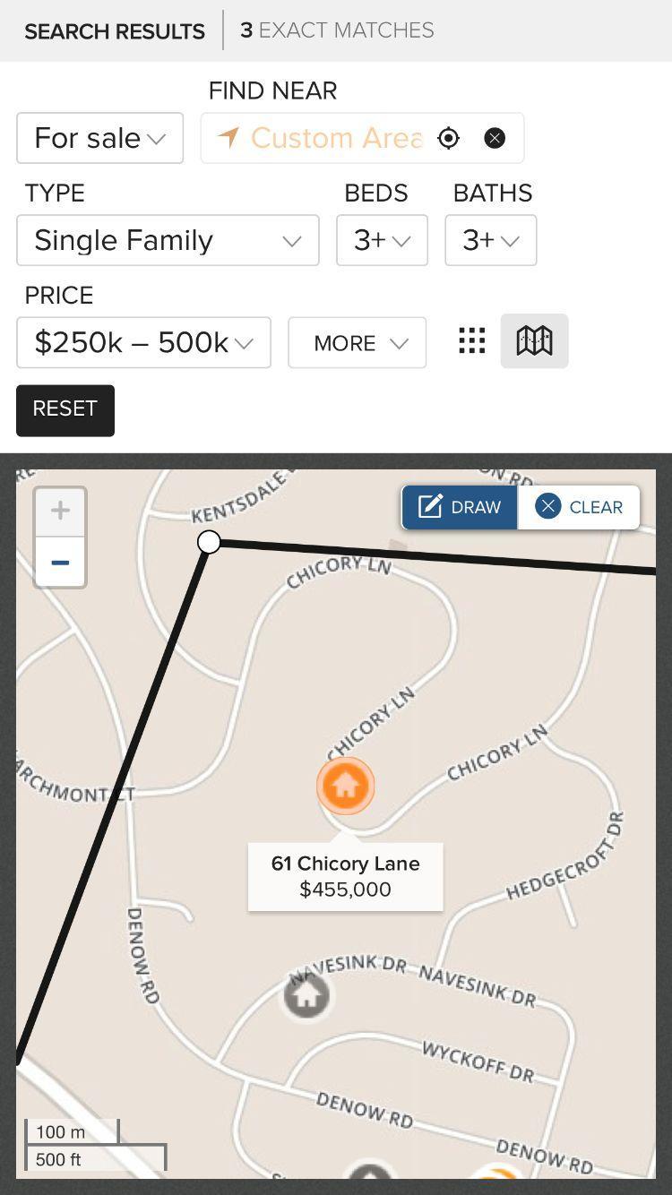 Скриншот NJ.com Real Estate