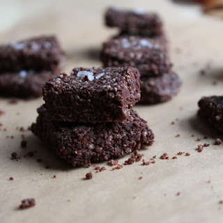 Raw Orange Chocolate Salted Brownies