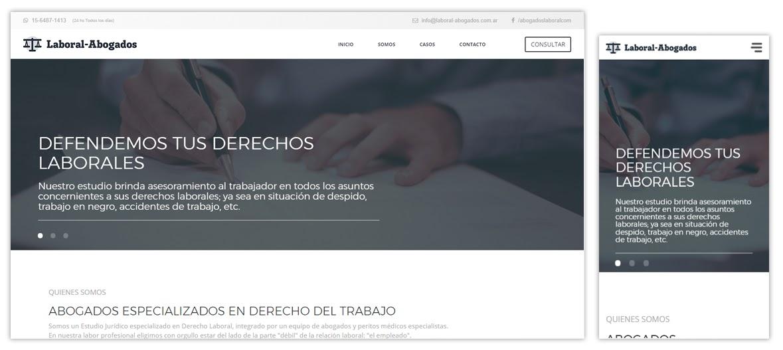 Sitio web Laboral Abogados