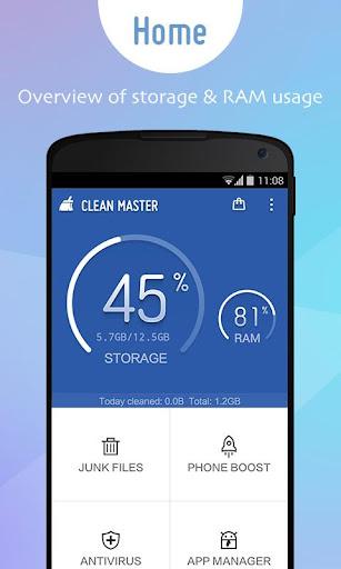 Clean Master x86 (Intel CPU) screenshot 1