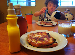 Photo: Clark & Hobbes with French Toast