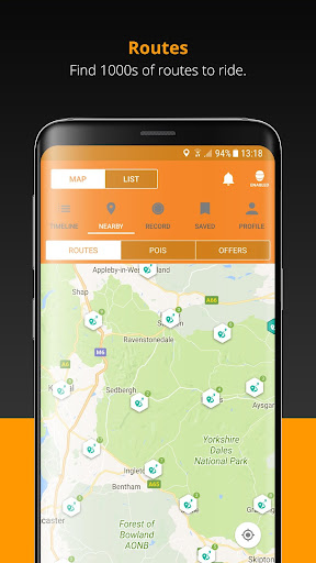 REALRIDER® The Motorcycle Tracking & Safety App screenshot