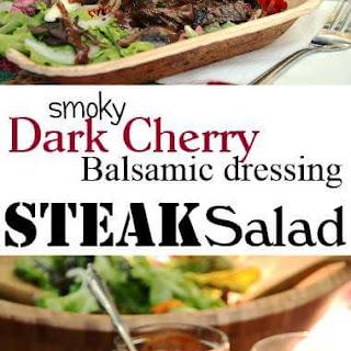 Steak Salad with Dark Cherry Balsamic Dressing