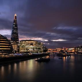 The Shard of glass by Augustin Galatanu - City,  Street & Park  Skylines ( pure, the shard, building, skyline, london )
