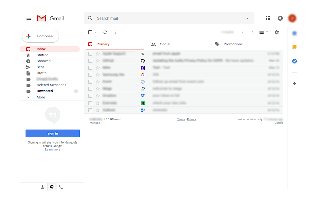 Sender icons for Gmail™