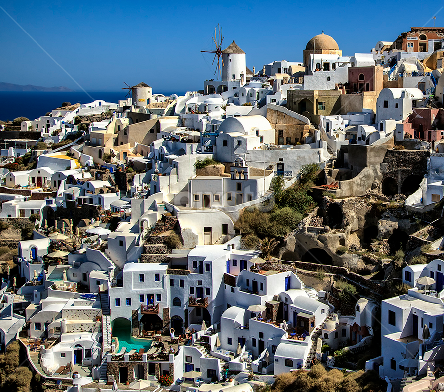 Beautiful Oia by Ann J. Sagel - Buildings & Architecture Homes ( ann j sagel, greece, oia, santorini,  )
