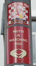 Photo: Sticker; Mutti Is Watching You