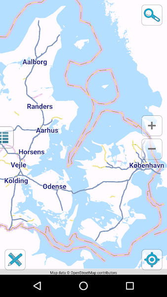 Map of Denmark offline
