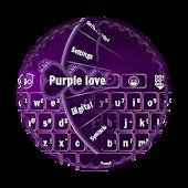 Purple love GO Keyboard