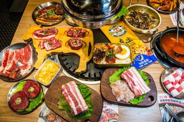 熟成牛肉 溫體豬燒烤吃到飽 虎樂日韓精肉海鮮火烤吃到飽
