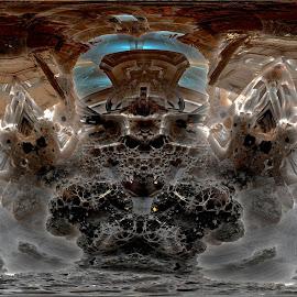 Forces Peak by Rick Eskridge - Illustration Sci Fi & Fantasy ( fantasy, jwildfire, mb3d, fractal, twisted brush )