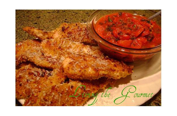 Baked Chicken Strips & Salsa Sauce Recipe