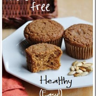 Easy Healthy Gluten-free Pumpkin Muffins.