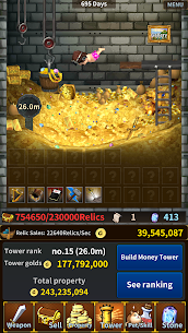 Money Tower Saga (Idle RPG) Apk Download For Android and Iphone 6