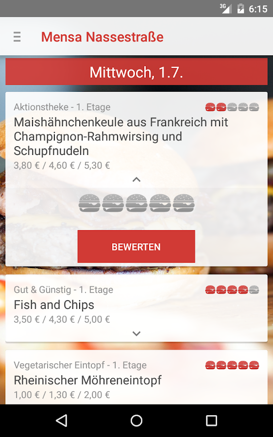 Mensa Deggendorf- screenshot