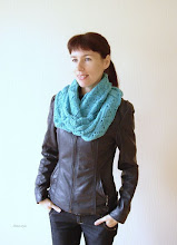 Photo: женский вязаный шарф-снуд-хомут-труба Бирюза