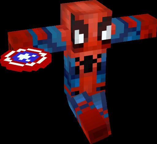 Homem Aranha Guerra Civil Nova Skin - Skins para minecraft pe guerra
