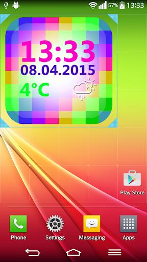 數字 天氣 時鐘