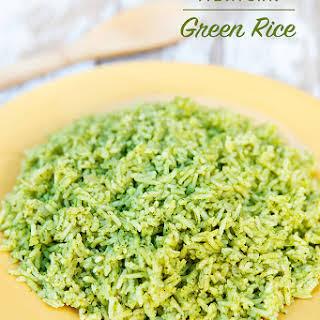 Mexican Green Rice (Arroz Verde).