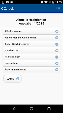 android Landwehr Steuerberater Screenshot 1