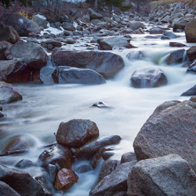 Soft Water by David Pilasky - Landscapes Waterscapes ( water, waterscape, colorado, stone, rock, long exposure, river )