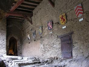 Photo: Rittertreppe mit Wappen der Besitzer © Wikipedia CC Lizenz By Ulrich Mayring