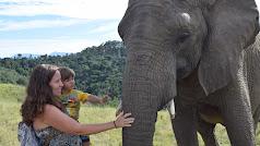 Durante su 'road trip'  en Namibia con su hijo Leo y embarazada por segunda vez.