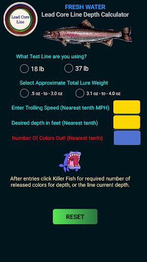 Fishing Lead Core Depth Cal