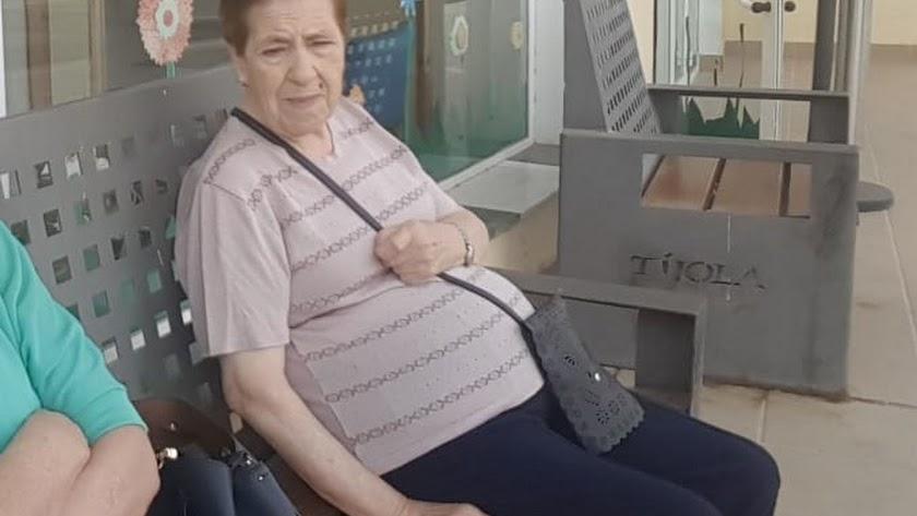 Ana García, en la residencia de Tíjola, donde todavía se encuentra.