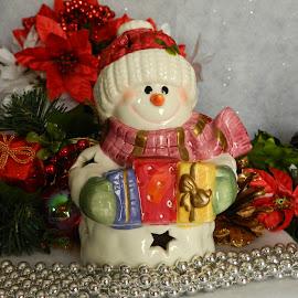 Snowman by Karen Carter Goforth - Public Holidays Christmas ( holiday, decoration, christmas, snowman,  )