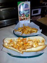 Photo: buffalo chicken sandwich and fries