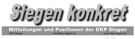 Zeitungskopf «Siegen-Konkret».