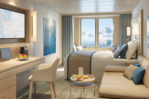 National_Geographic_Endurance_stateroom_rendering.jpg - Unwind in a stateroom aboard National Geographic Endurance during your polar adventures.