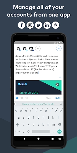 Buffer: Manage Twitter, Facebook, Social Media 7.1.6 gameplay | AndroidFC 2