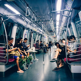 MRT - Singapore by Dennis Agusdianto - Instagram & Mobile Android ( public transportation, singapore mrt, travel, singapore )