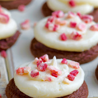 Chocolate Peppermint Cake Mix Cookies.