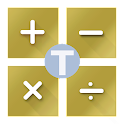Calculator and Tips Golden icon