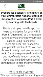 NBCE Flashcards Part 1 Chemistry Screenshot