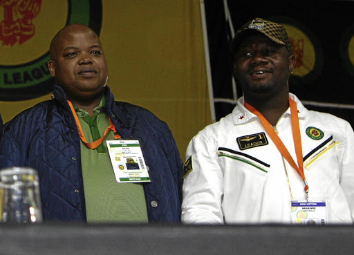 ANC Youth League president Collen Maine and treasurer-general Reggie Nkabinde, who is expected to take over from him. / Simon Mathebula