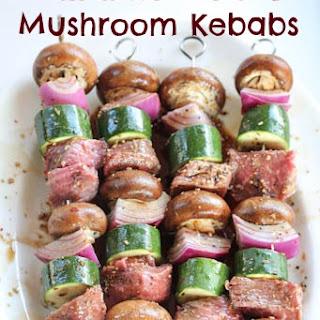 Balsamic Meat & Mushroom Kebabs