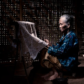 batik artisans by Rudy Wahju - People Portraits of Women
