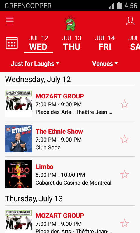 Just for Laughs Festival- screenshot