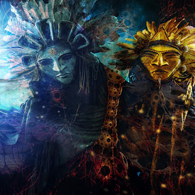 Spirit world by Michael Miller - Illustration Sci Fi & Fantasy ( visionary, magic, nexus, shaman, art, dmt, spirit, mushrooms )