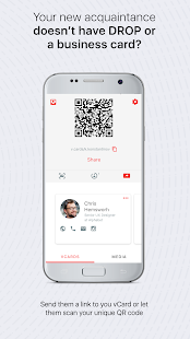 DROP vCards: Exchange business cards- screenshot thumbnail